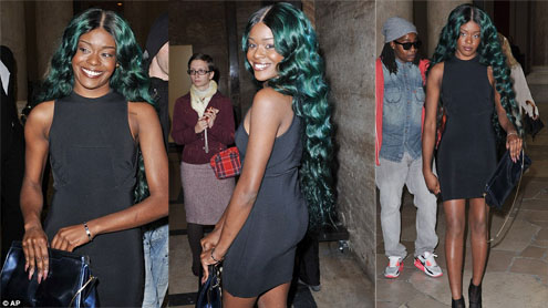 A-SEA-Lia Banks flaunts her mermaid-styled green hair