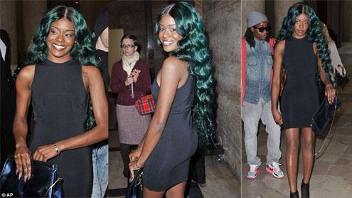 A-SEA-Lia Banks flaunts her mermaid-styled green hair