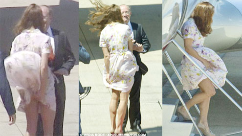 Blowing Skirt invites another scandal for Kate as the royal tour ends