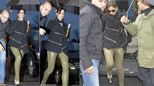Cheryl Cole Steps Out In Denmark Wearing Bizarre Skintight Trouser