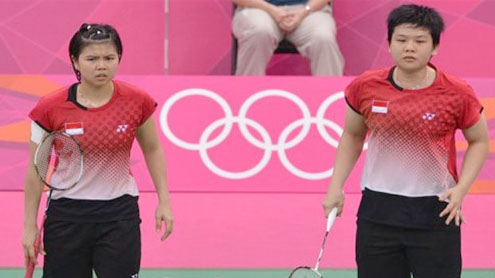 Indonesia bans pair involved in Olympic scandal