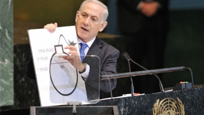 Netanyahu calls for 'clear red line' on Iranian nuclear drive