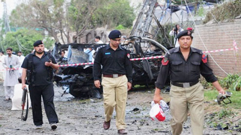 Two Americans among 5 killed in Peshawar suicide blast