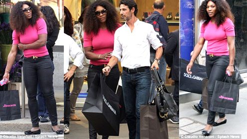 Serena Williams Goes On Shopping With French Tennis Coach Boyfriend In Milan