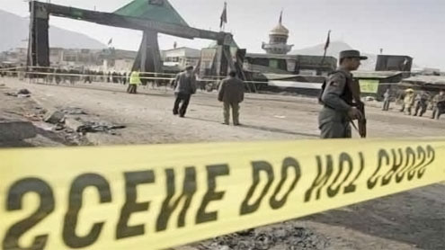 Suicide bombing kills six Afghans at NATO base