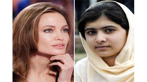 Angelina Jolie for Nobel peace award for Malala