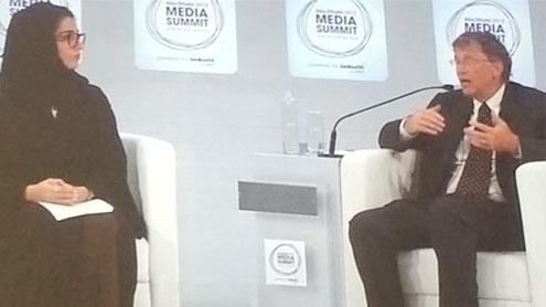 TV still cheaper than the web,' says Bill Gates in Abu Dhabi Media Summit