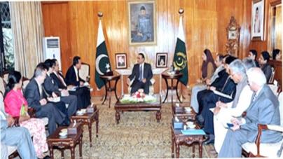 Construction of Bhasha Dam crucial, says Zardari