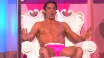 Gilles Marini strips down for charity on The Ellen Show