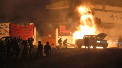 Mexico raids seized campuses, battle protesters