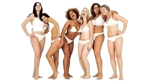 Models of all shapes and sizes strip off for M&S 'sexy shapewear' advert