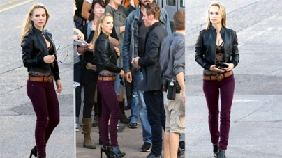 Natalie Portman sizzles on set to cosy up with co-star Michael Fassbender