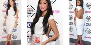Nicole Scherzinger dazzles in backless dress at Cosmopolitan Ultimate Women Of The Year Awards