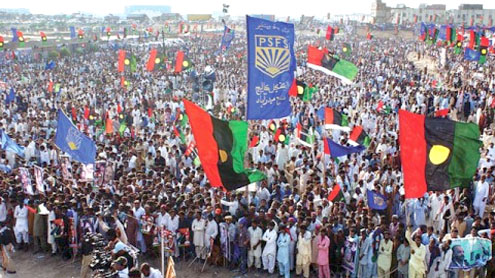 PPP bashes N at pro-LG Act rally