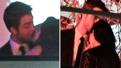 Kristen caught kissing