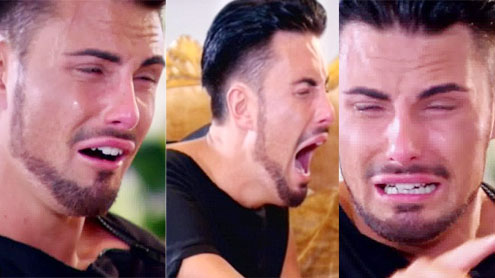 Rylan Clark collapses on floor upon hearing to be in X Factor Live Shows