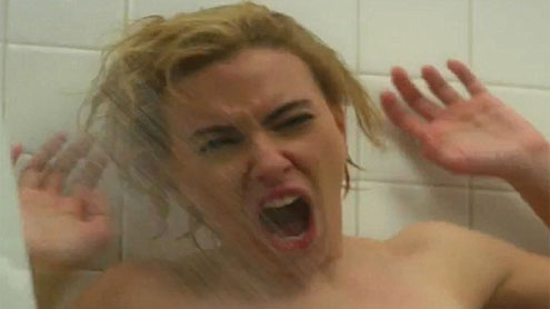 Scarlett Johansson Nude in Psycho Shower Scene for Hitchcock Trailer