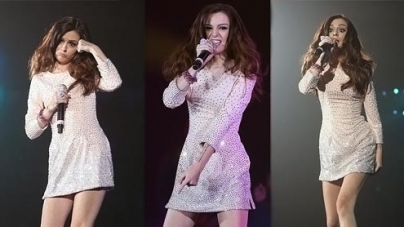 Cher Lloyd looks every inch the pop princess as she takes to the stage in Tokyo