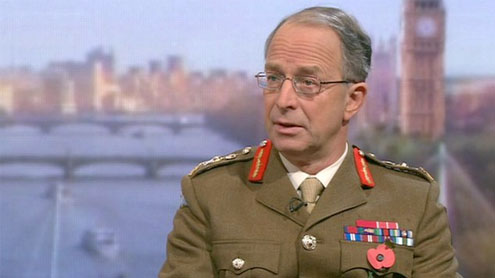 Head of Armed Forces is now unable to carry out Government demands