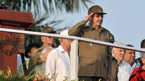 Cuba leader Raul Castro says island 'hard hit' by Sandy