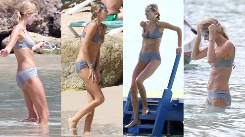 Donna Air shows bikini body