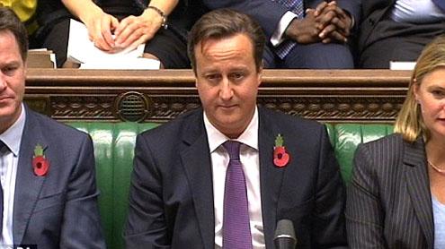 EU budget vote Cameron humiliated eurosceptics exultant 53 Conservatives vote Labour