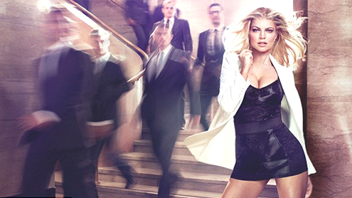Fergie slips into cleavage-baring mini dress in new Viva perfume ads
