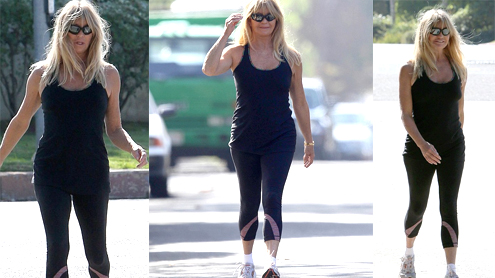 Goldie Hawn looks simply amazing celebrates 67th birthday workout sun