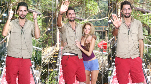 Hugo Taylor reunites with MIC girlfriend Natalie Joel on eviction from the I'm A Celebrity jungle