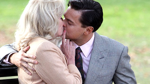 Joanna Lumley, 66, grins after locking lips with Leonardo DiCaprio, 38
