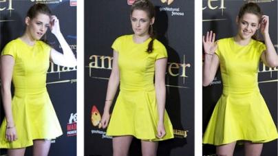 Kristen Stewart shows off her best pout at Madrid Twilight premiere