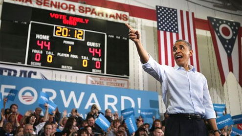 In final days of Obama campaign, little drama, plenty of passion—and some dancing