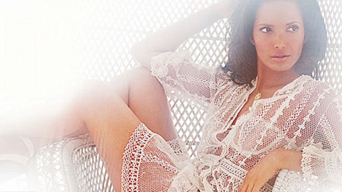 Padma Lakshmi poses for Playboy in lace underwear