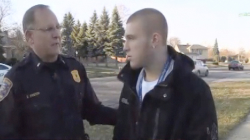 Teen Arrested During TV Interview