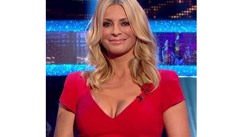 Viewers get a little distracted by presenter Tess cleavage