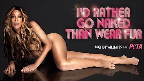 Wendy Williams strip naked for PETA