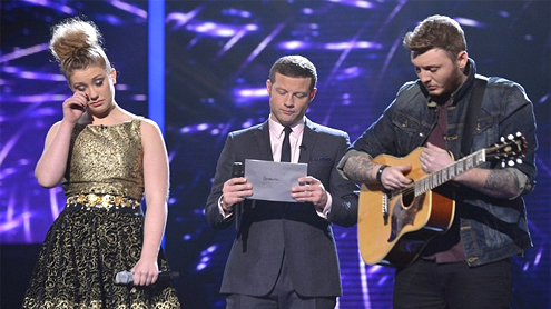 X Factor 2012 Ella Henderson voted going head head James Arthur