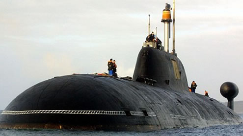 Russian attack submarine discovered and given safe harbor from Hurricane Sandy