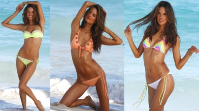 Alessandra Ambrosio is a yummy mummy in bikini shoot for Victoria's Secret