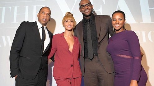 Beyonce joins Jay-Z to toast LeBron James at Sports Illustrated's Sportsman of the Year gala