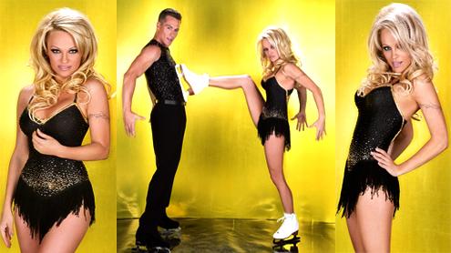 Dancing On Ice 2013 line Pamela Anderson Lauren Goodger Shayne Ward compete