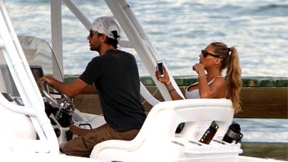 Enrique Iglesias and Anna Kournikova ride love cruise in Miami