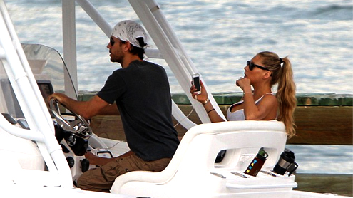 Enrique Iglesias and Anna Kournikova ride love cruise in Miami