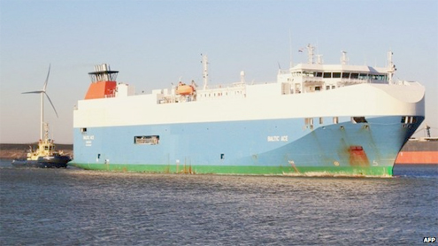 Four dead after cargo ship sinks in North Sea