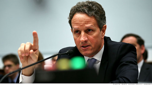 Geithner: U.S. to hit debt ceiling on Monday