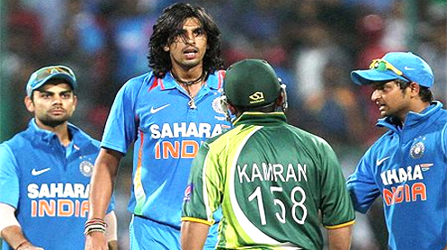Ishant Sharma-Kamran Akmal spat: Dhoni, Hafeez play down the episode
