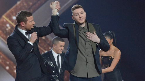 James Arthur is crowned winner of the X Factor 2012
