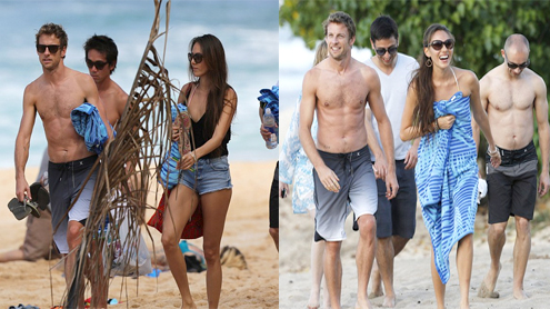 Jenson Button and model girlfriend Jessica Michibata soak up the Hawaiian sun