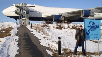Jumbo Hostel Plane crazy plain daft Joining jet set Stockholm