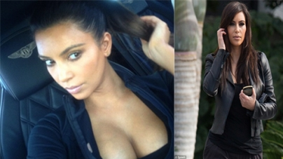 Kim Kardashian bares her cleavage in sexy Twitter snap